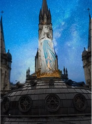 Blessed Mother Mary Lourdes Morning Star
