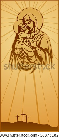 Blessed Virgin Mary Jesus Christ blessing Christianity