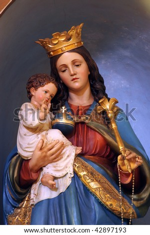 Blessed virgin mary with baby jesus stock photo 42897193