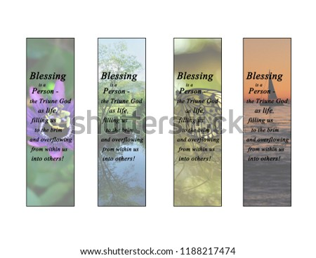Blessing is a Person Bookmark