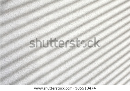 Blind shadow on white background
