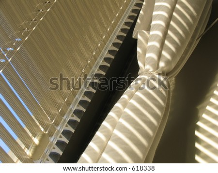 Blinds and curtains - stock photo