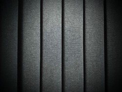 Blinds background, vertical stripes with shades of green, gray and blue.