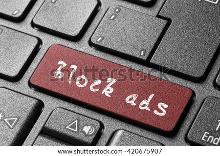 block ads button/block ads button #420675907