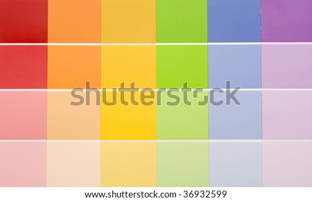 Block gradient of rainbow colors.