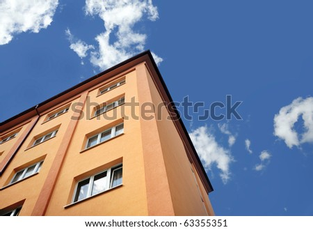 Block of flats - apartment building - stock photo