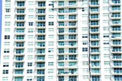 block of flats, photo as a background modern building in miami city florida usa america