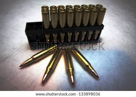 Block of 20 rounds of 223 ammo for assault weapons.