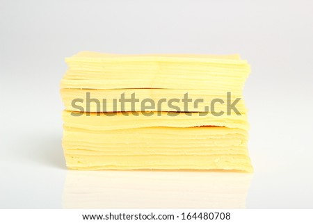 Block of Sliced Cheese