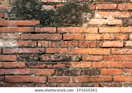 Block or brick wall construction is used to create a dental makeover in ancient times by the Rams and then use cement connection forged