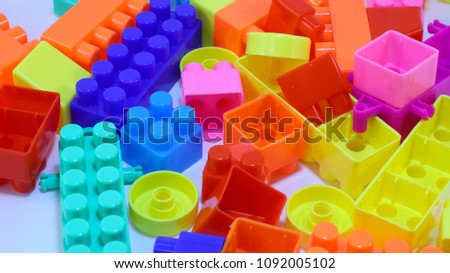 block pieces can be assembled and connected in many ways, to construct objects; vehicles, and buildings. Anything constructed can then be taken apart again, and the pieces used to make other object. #1092005102