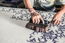 Block Printing On Fabric - Rajasthan, India