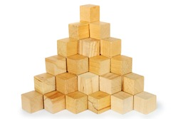 Block stairs build in a pyramid shape, showing you there is only room for one at the top