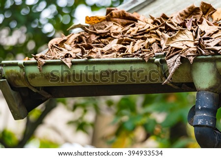 Blocked Drain Pipe on Rooftop Stock photo ©