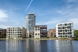 Blocks at the channel in Netherlands