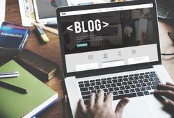 Blog Blogging Homepage Social Media Network Concept