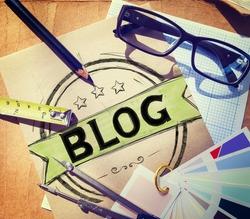 Blog Blogging Online Writing Design Web Page Website Concept