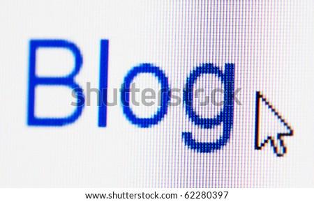 Blog, computer screen