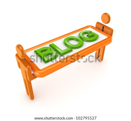 Blog concept.Isolated on white background.3d rendered.