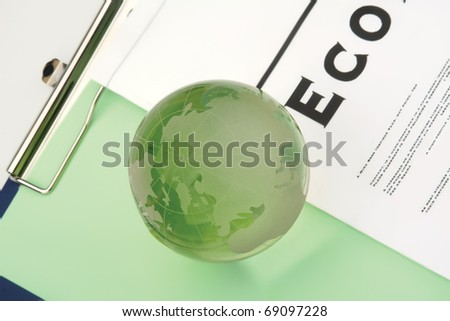 Photo of BLOG. Globe with different association terms.