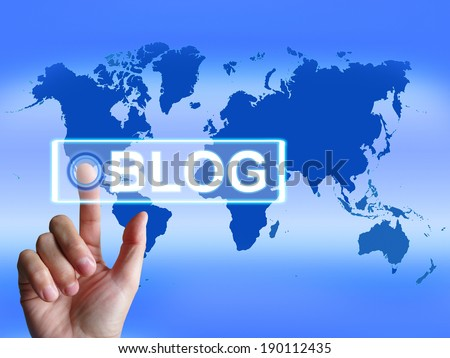Blog Map Showing International or Worldwide Blogging
