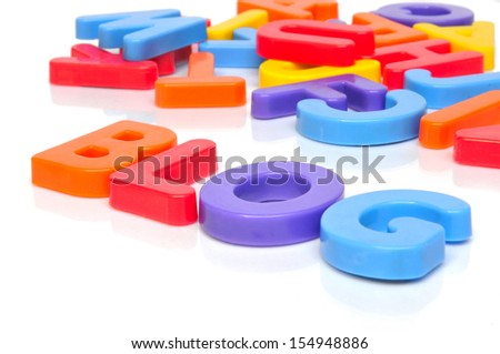 Blog with multicolored letters