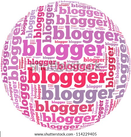 Image result for images of the word blogger