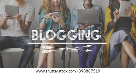 Blogging Post Connect Social Media Website Concept #398887519