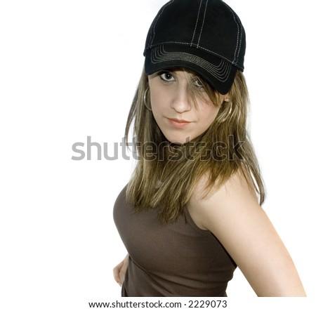 Blond wearing a ball cap