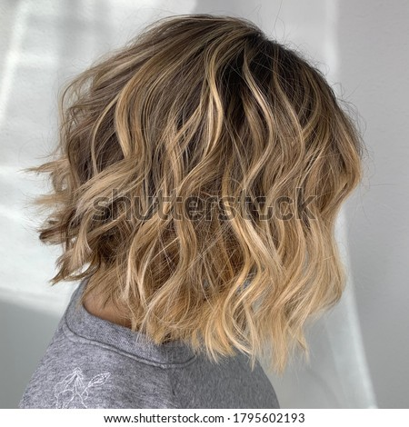 Blonde and creamy balayage highlights Photo stock ©