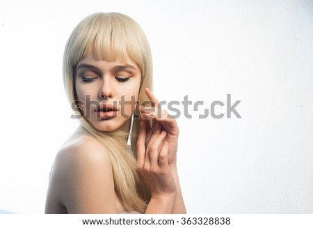 Stock Photo Blonde girl close-up