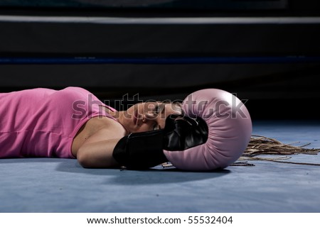 knocked out sexy ring girl