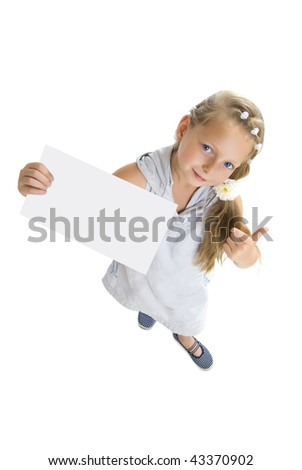 blonde girl shows card