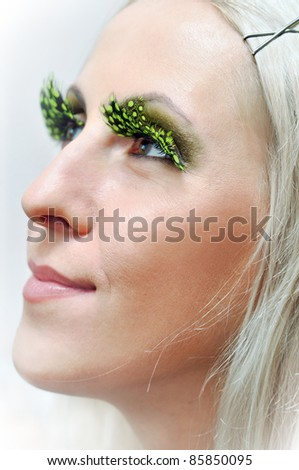 Blonde glamour girl with fairy make up