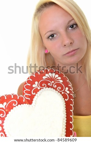 blonde with gingerbread