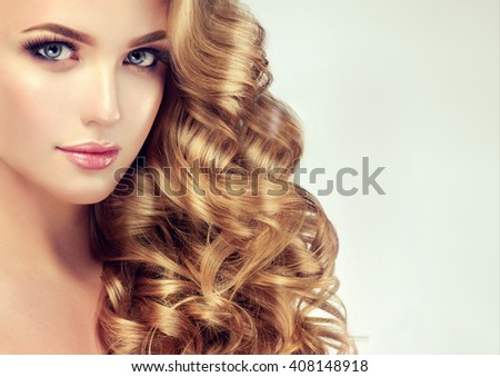 Groovy Blondel Girl With Long Wavy Hair Beautiful Model With Curly Hairstyles For Men Maxibearus