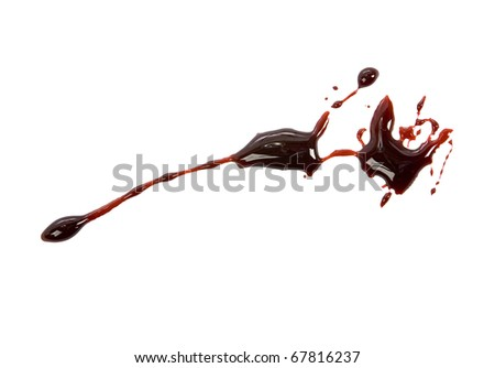 Blood drips isolated on white