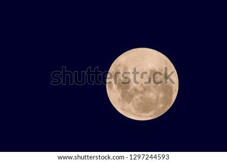 Blood moon, eclipse seen from, La Pampa,January 21, 2019   Argen #1297244593