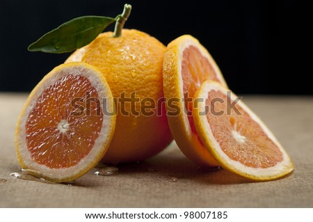 Blood Orange and Slices