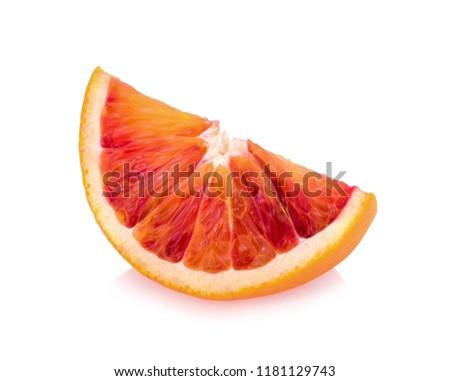 blood orange isolated on white background