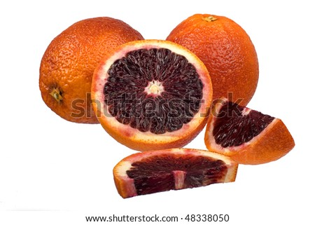 blood orange isolated on white background