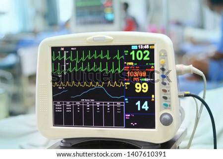 Blood pressure vital sign ekg monitor