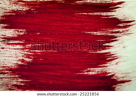 Blood Red brush strokes