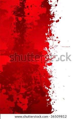 Blood splat border with red ink effect and room to add your own text