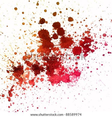 Blood splatter - stock photo