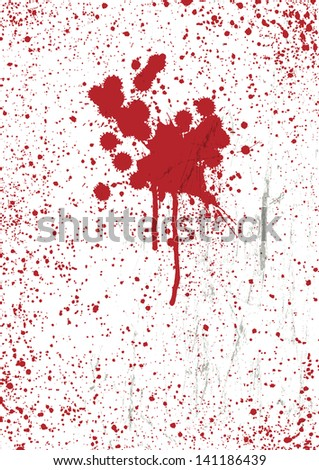 Blood stains texture background. Raster version, vector file available in my portfolio.