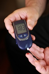 Blood sugar test - diabetic person