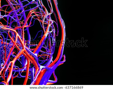 Blood vessels of a human - 3D Rendering