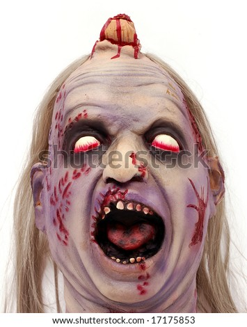 Bloody deformed head. Great for Halloween brochures and advertisements