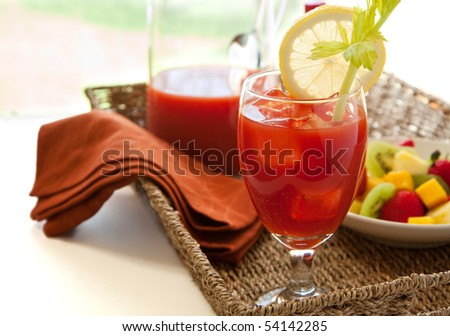 Bloody marry with fruit
